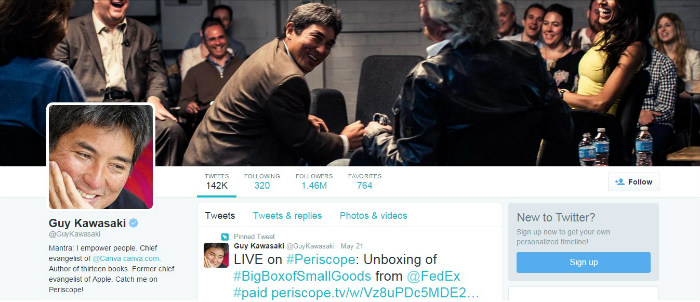 Guy Kawasaki canva twitter header