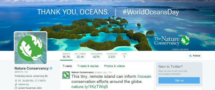 Twitter cover Nature org