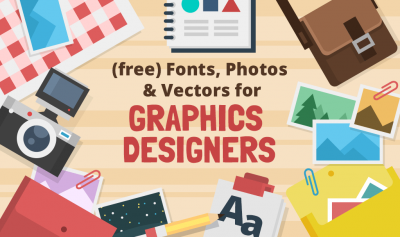 (free) Fonts, Photos and Vectors for Graphic Designers