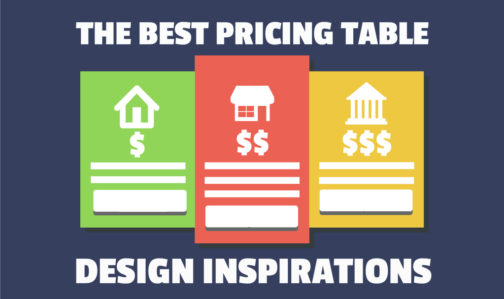 The Best Pricing Table Design Inspirations